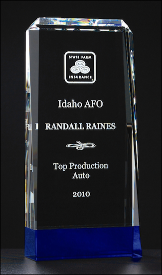 premium series crystal award