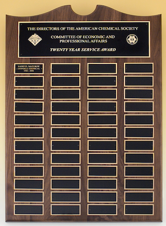 extra large plate roster series perpetual plaque