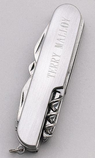 silver pocket knife