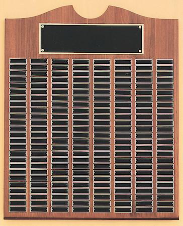 black - american walnut roster series perpetual plaque