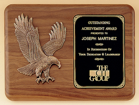 walnut p15 eagle plaque