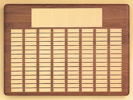 gold - american walnut p23 perpetual plaque