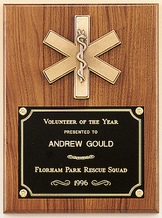walnut emergency medical plaque
