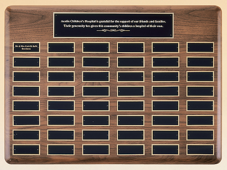 extra large plate perpetual plaque