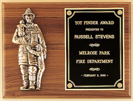 fireman award plaque