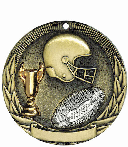 football tri-colored medal