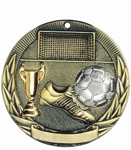soccer tri-colored medal