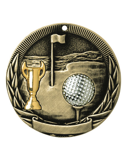 golf-tri-colored medal