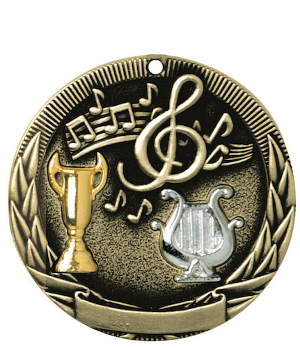 music tri-colored medal