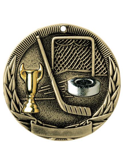 hockey tri-colored medal
