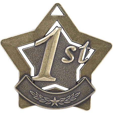 first place star medal