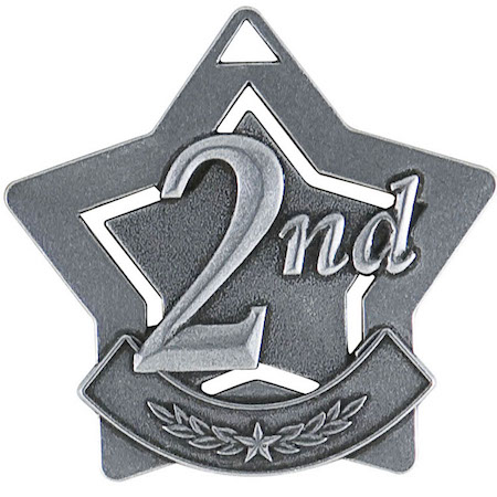 second place star medal